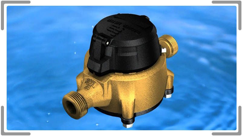 3d model of water meter with photorealistic renderin International video