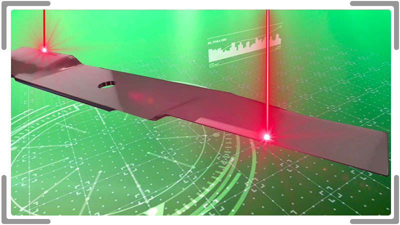 3d animation of lawnmower blade getting laser coated