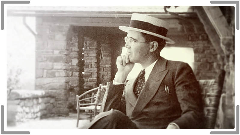 man from the 1930 looking thoughtful in Corporate video